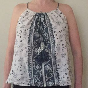 Love Sam blue and cream design top